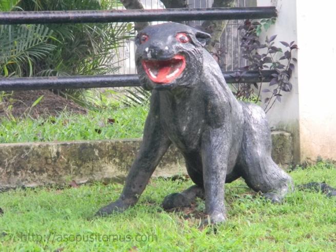 macan hitam lambang polda jabar dan si cepot
