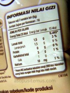 kandungan nutrisi krimer nescafe coffeemate
