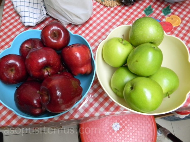 apel hijau granny smith dan apel merah washington