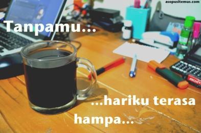 hari tanpa kopi terasa hampa