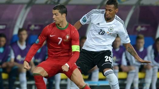 Boateng and Ronaldo